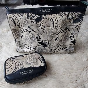 Kenneth Cole 2 Piece Floral Toiletry Travel Bags